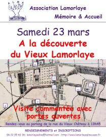 l'affiche pour la visite du vieux Lamorlaye le 23 mars