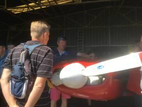 La visite des hangars