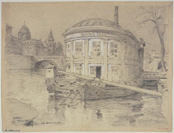 Les bains Vigier au Pont-Neuf, 1926